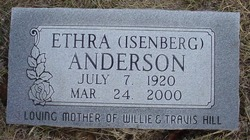 Ethra <i>Isenberg</i> Anderson
