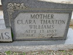 Clara Susan <i>Thaxton</i> Williams