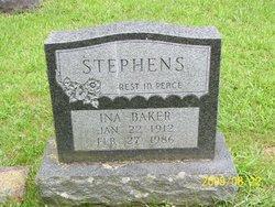Ina <i>Baker</i> Stephens