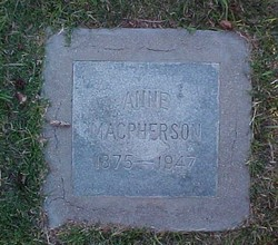 Anna Anne <i>Henderson</i> MacPherson