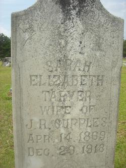 Sarah Elizabeth <i>Tarver</i> Cupples