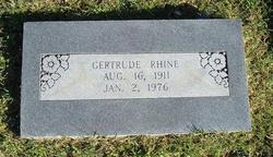 Gertrude Rhine