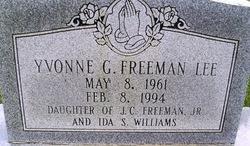 Yvonne Gail <i>Freeman</i> Lee
