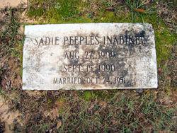 Sadie Louise Sue <i>Peeples</i> Inabinet