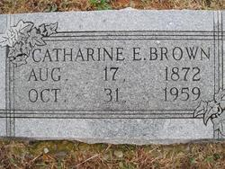 Catharine E Brown