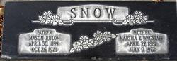 Martha Ellen Wagstaff <i>Hawkins</i> Snow