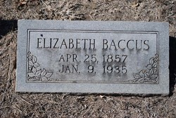Elizabeth Barbara <i>Bennett</i> Baccus