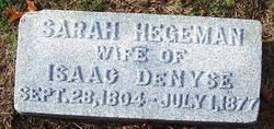Sarah <i>Hegeman</i> Denyse