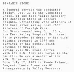 Benjamin Louis Stone