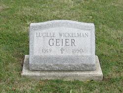 Lucille I <i>Wickelman</i> Geier
