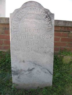 Francis M <i>Burns</i> Amberson