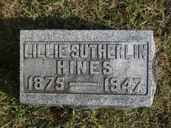 Lillie <i>Sutherlin</i> Hines