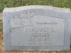 Margaret E Adams