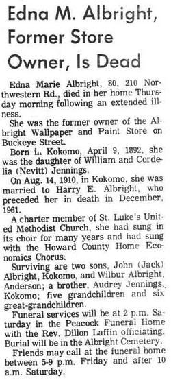 Edna Marie <i>Jennings</i> Albright
