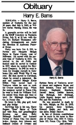 Harry Eugene Barns, Sr