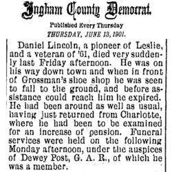 Pvt Daniel Lincoln