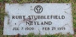 Ruby <i>Stubblefield</i> Neyland