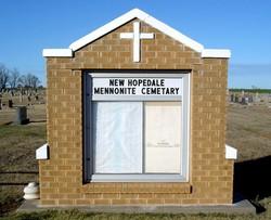 New Hopedale Mennonite Memorial Cemetery