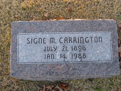 Signe Marie <i>Olson</i> Carrington