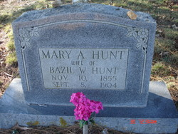 Mrs Mary A Hunt