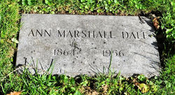 Ann M <i>Marshall</i> Dale
