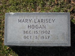 Mary <i>Larisey</i> Hogan