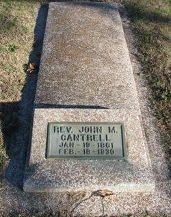 Rev John M. Cantrell
