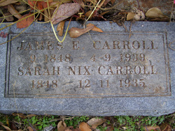 Sarah Lucinda Lou <i>Nix</i> Carroll
