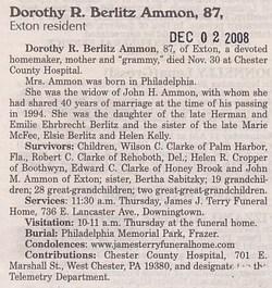 Dorothy R <i>Berlitz</i> Ammon