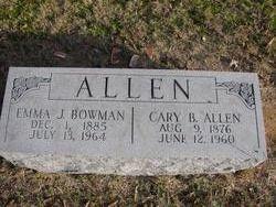 Emma J. <i>Bowman</i> Allen
