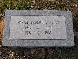 Sarah Elizabeth <i>Braswell</i> Allen