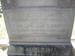Jane <i>Appleby</i> Larisey
