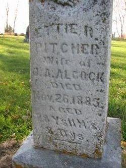 Ettie R <i>Pitcher</i> Alcock