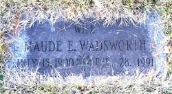 Maude E <i>Wadsworth</i> Ridley