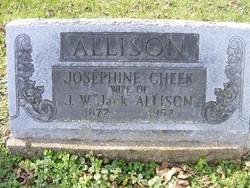 Josephine <i>Cheek</i> Allison