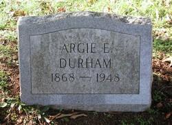 Argie Elizabeth <i>Randall</i> Durham