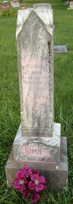 Elizabeth Caroline Carrie <i>Davis</i> Sims