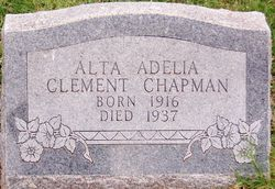 Alta Adelia <i>Clement</i> Chapman