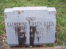 Catherine Honey <i>Green</i> Klein