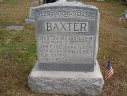 Pvt Horace Norval Baxter