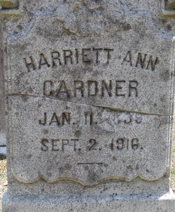 Harriett Ann <i>Bennett Hindley</i> Gardner