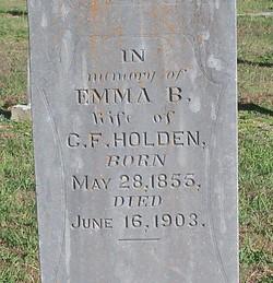 Emma B <i>Alden</i> Holden