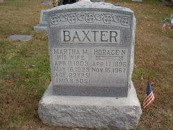 Martha M. <i>Martin</i> Baxter