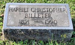 Harriet <i>Christopher</i> Billeter