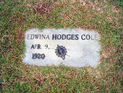 Edwina <i>Hodges</i> Cole
