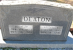 Augusta Emaline Gussie <i>Veal</i> Deaton