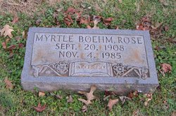 Myrtle Amelia <i>Boehm</i> Rose