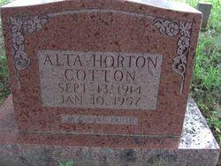Alta Cindy <i>Horton</i> Cotton