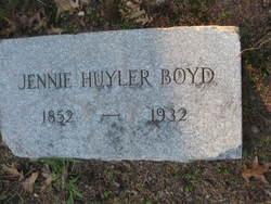 Jennie <i>Huyler</i> Boyd