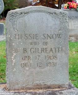 Hessie <i>Snow</i> Gilreath